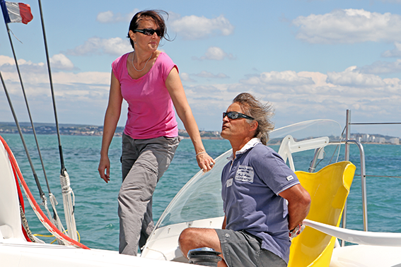trimaran holidays with Skipper and hostess