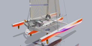 Plan simulation du trimaran pulsar 60