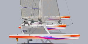 image de synthèse du trimaran pulsar 60 so what